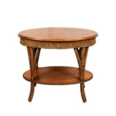 American Country Oval Wicker Table