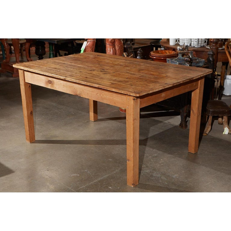 Woodwork Rustic Country Pine Table For Sale