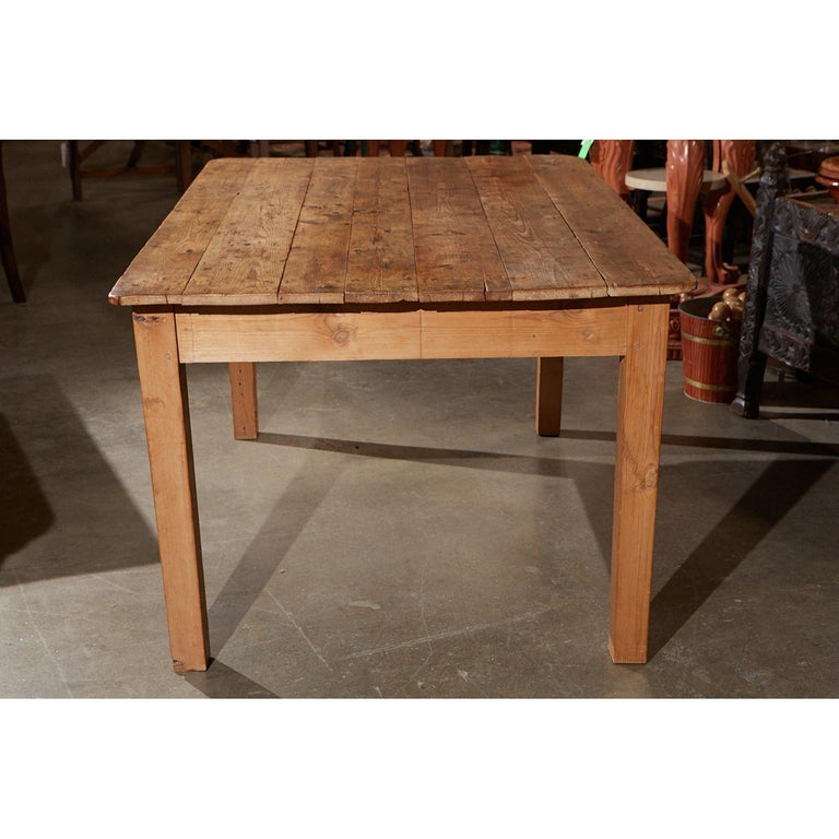 20th Century Rustic Country Pine Table For Sale