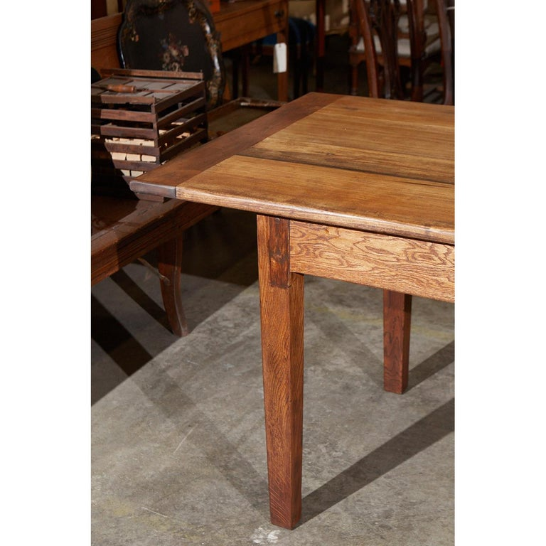 This French Country Style Dining Table Was Made With 19th Century Parts And A New