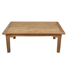 French Country Pine Table into Coffee Table