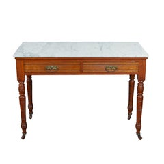 Victorian Marble-Top Table or Washstand
