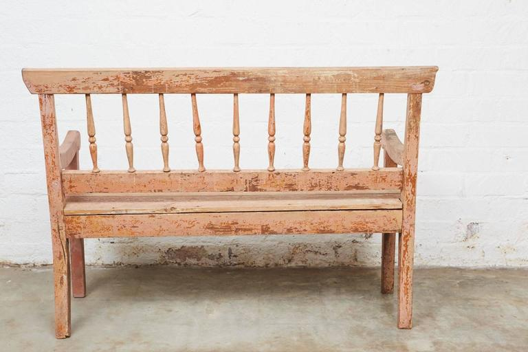 Woodwork 19th Century Small Country Bench For Sale