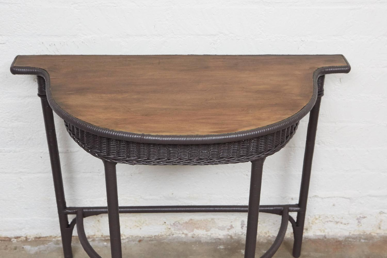 Small Foyer Tables Sale : Small wicker console table for sale at stdibs
