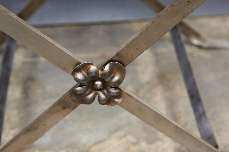 Early 20th Century 1920s Metal Stool For Sale