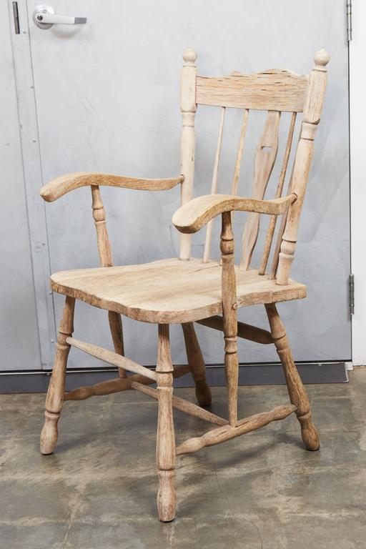 Pair of English Oak Armchairs 3