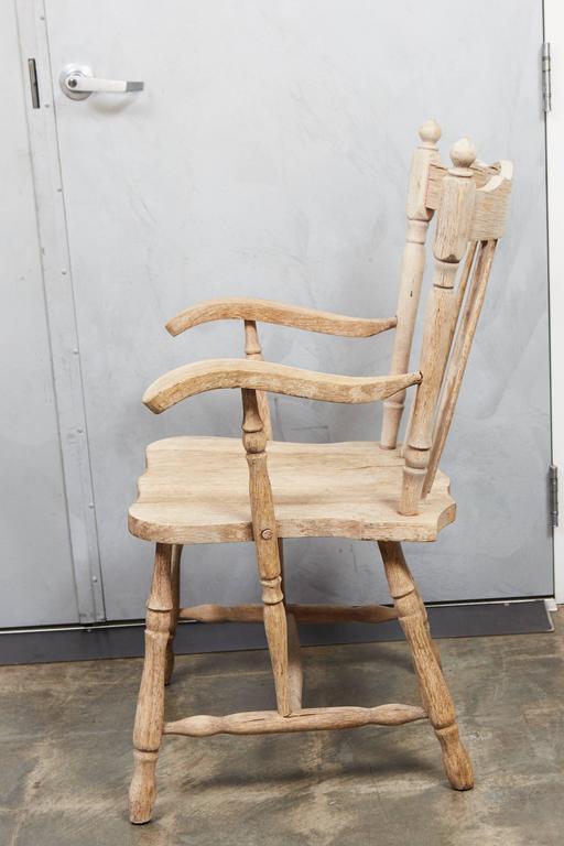 Pair of English Oak Armchairs 4