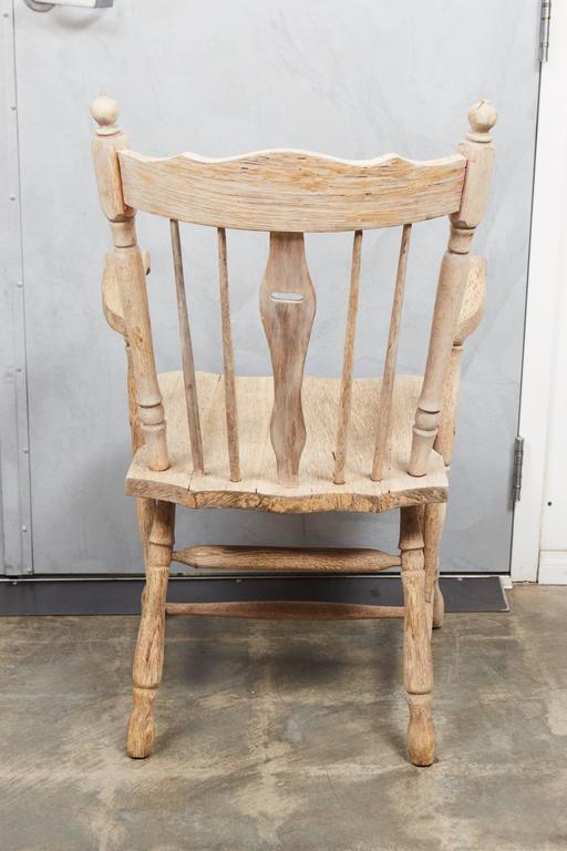 Pair of English Oak Armchairs 6