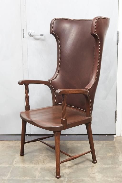 leather high back chairs for sale high back leather upholstered chair for at 1stdibs 16639 | 6H2A8014 l