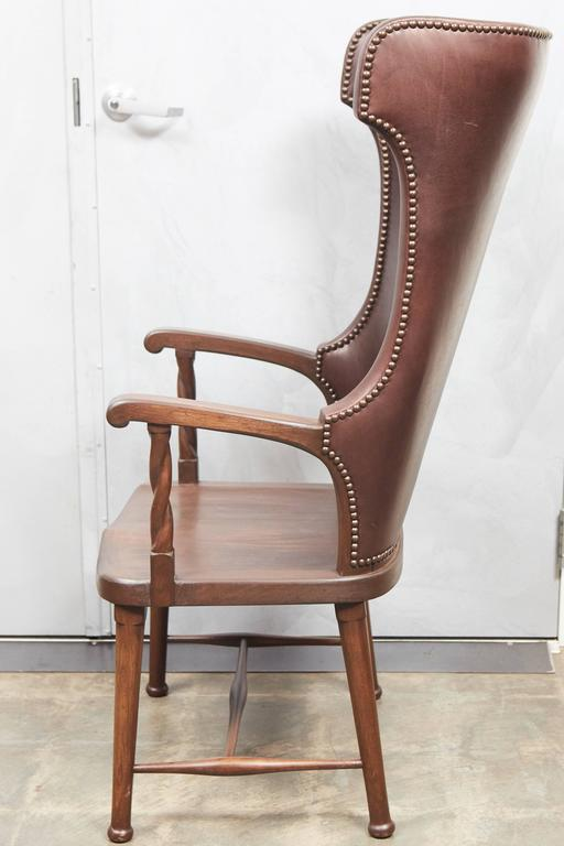 leather high back chairs for sale high back leather upholstered chair for at 1stdibs 16639 | 6H2A8015 l