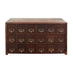 Antique Card File Cabinet