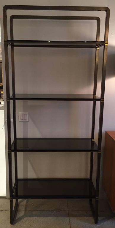 American Paul M Jones Bronze and Glass Etagere For Sale
