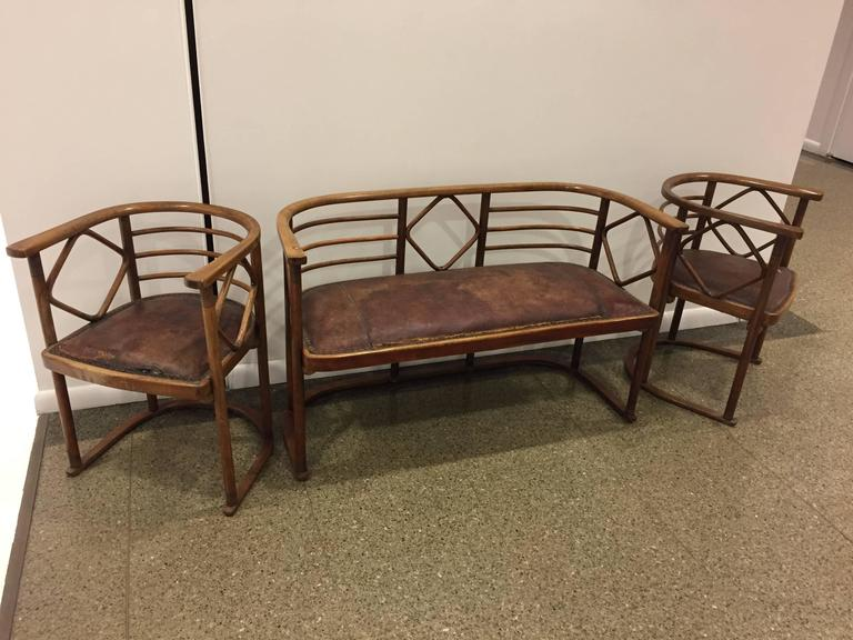 Josef Hoffmann Parlor Set for J and J Kohn 2
