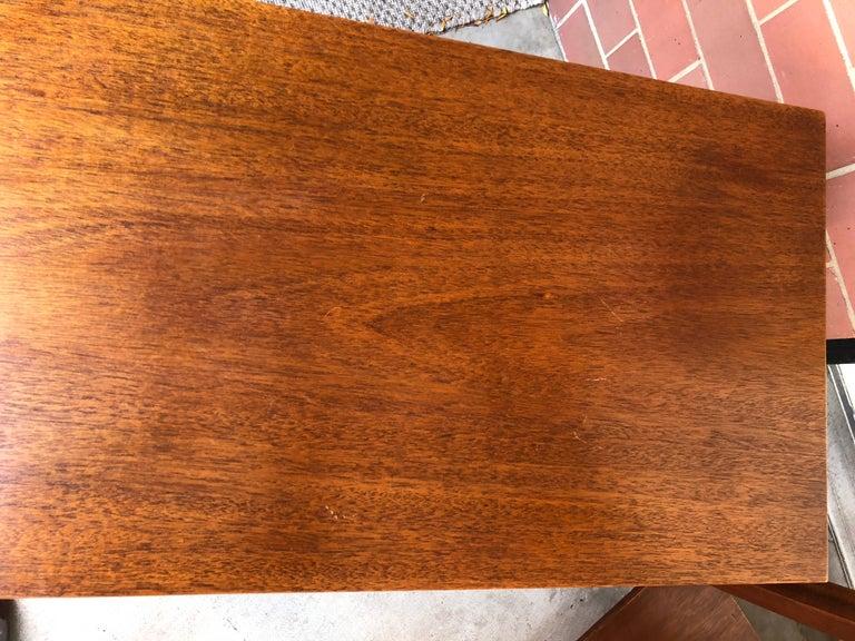 American Pair of Robsjohn-Gibbings Walnut Side Tables For Sale