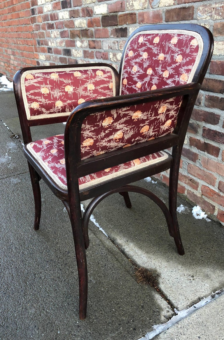 Vienna Secession Thonet Secessionist Armchair Attributed to Otto Wagner For Sale