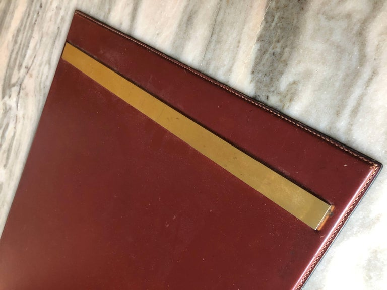 French Vintage Hermes Desk Blotter For Sale