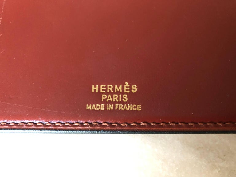Vintage Hermes Desk Blotter In Good Condition For Sale In Hudson, NY