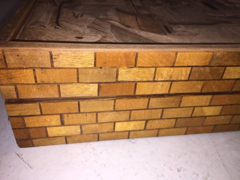 Italian Intarsia Box by Enrico Bernardi For Sale
