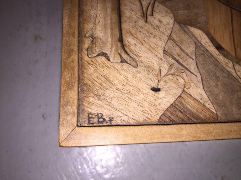 Intarsia Box by Enrico Bernardi In Good Condition For Sale In Hudson, NY