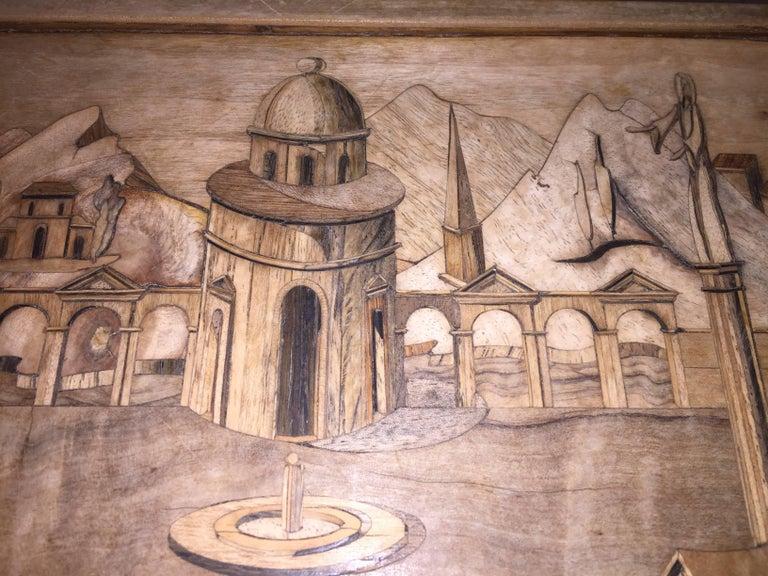 Mid-Century Modern Intarsia Box by Enrico Bernardi For Sale