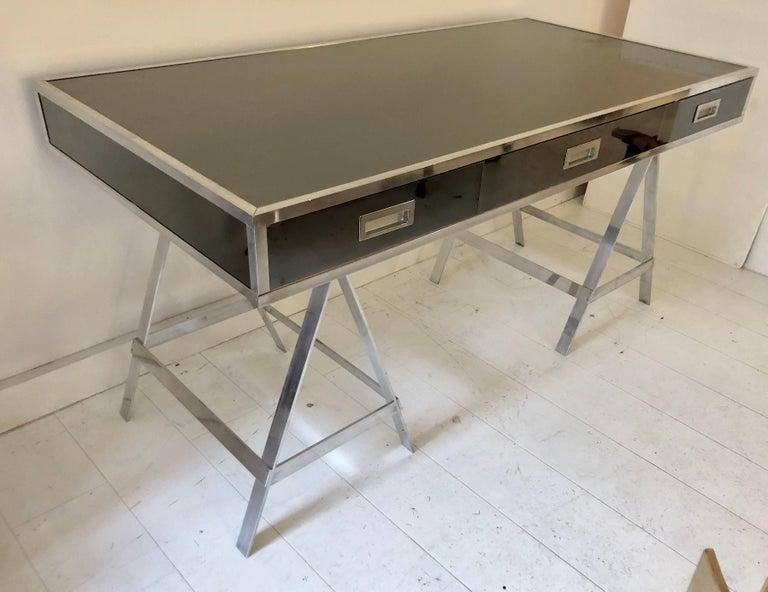 Italian Vintage Alessandro Albrizzi Trestle Desk For Sale