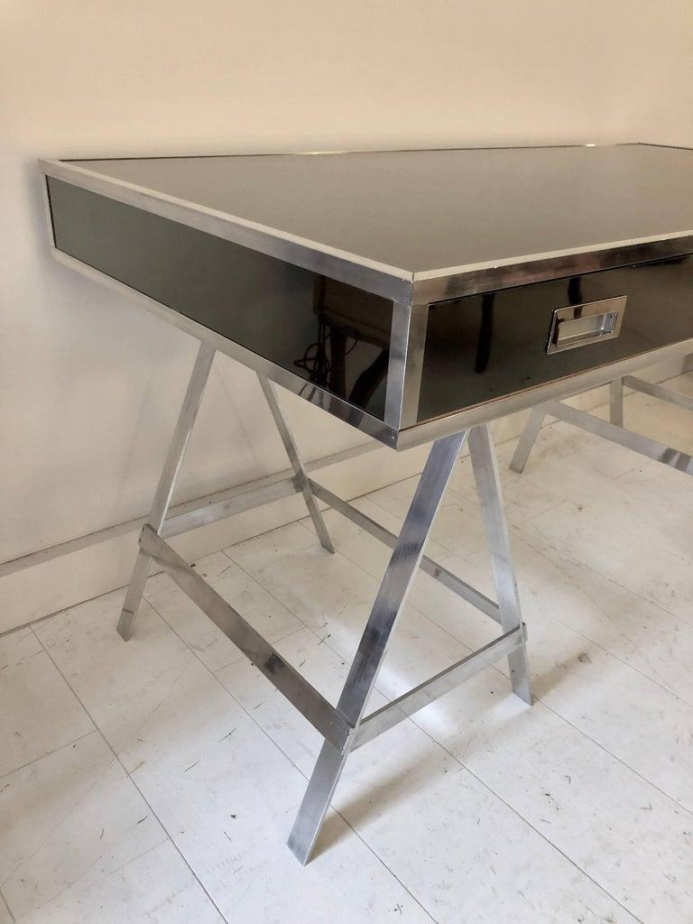 Late 20th Century Vintage Alessandro Albrizzi Trestle Desk For Sale