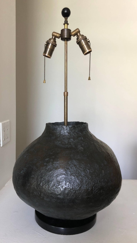 Large Organic Modern Ceramic Table Lamp For Sale 3