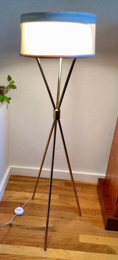 Tripod Floor Lamp by TH Robsjohn-Gibbings for Hansen Lighting