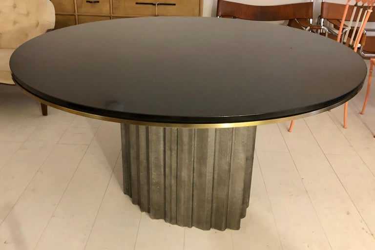 Italian Chic Brutalist Dining/Centre Table by Max Papiri For Sale