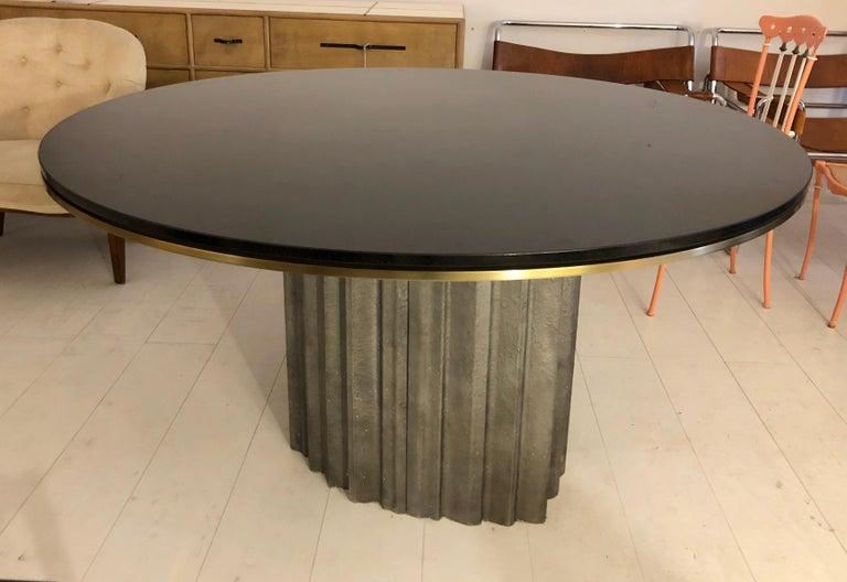 Chic Brutalist Dining/Centre Table by Max Papiri In Good Condition For Sale In Hudson, NY
