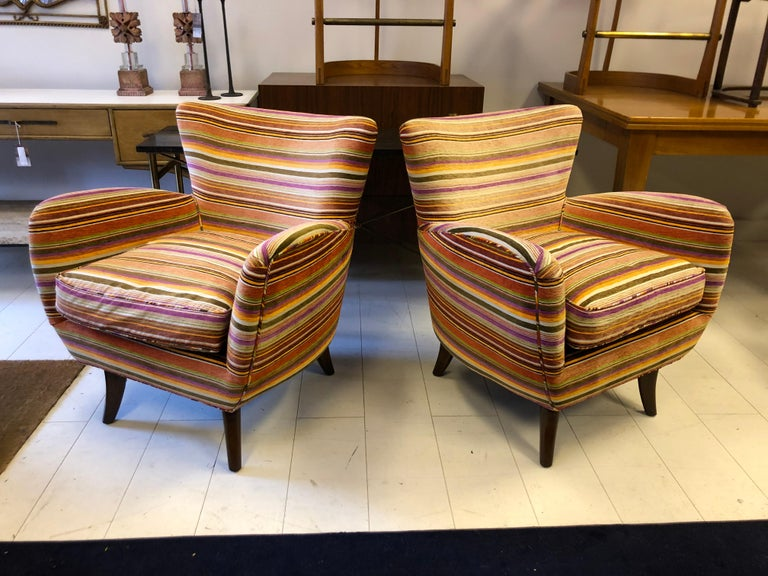 Art Deco Pair of Ernst Schwadron Club Chairs For Sale