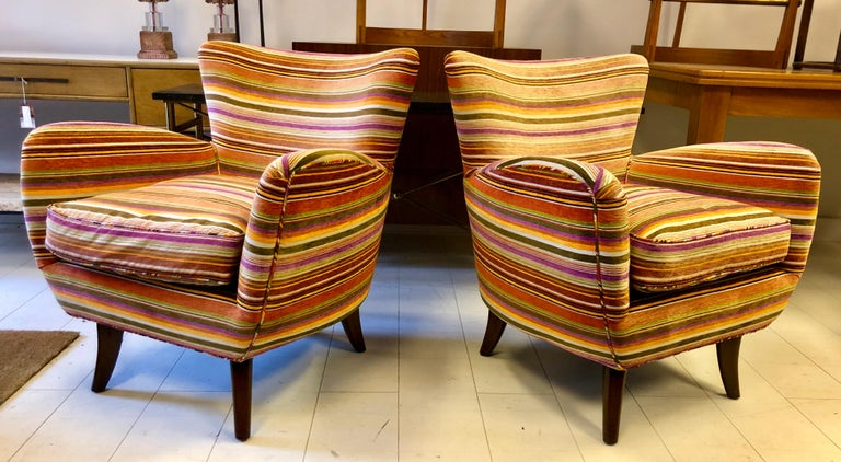 American Pair of Ernst Schwadron Club Chairs For Sale