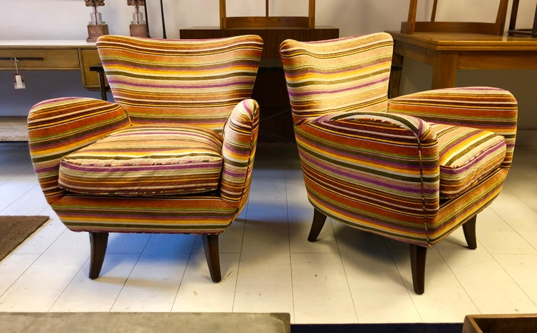 Pair of Ernst Schwadron Club Chairs For Sale 3