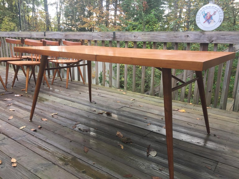 Mid-Century Modern Paul McCobb Planner Group Dining Set For Sale