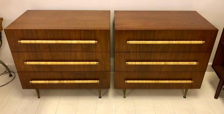 American Pair of T.H. Robsjohn-Gibbings for Widdicomb Chest of Drawers For Sale