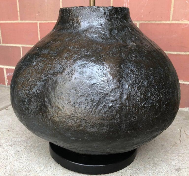 Large Organic Modern Ceramic Table Lamp For Sale 5