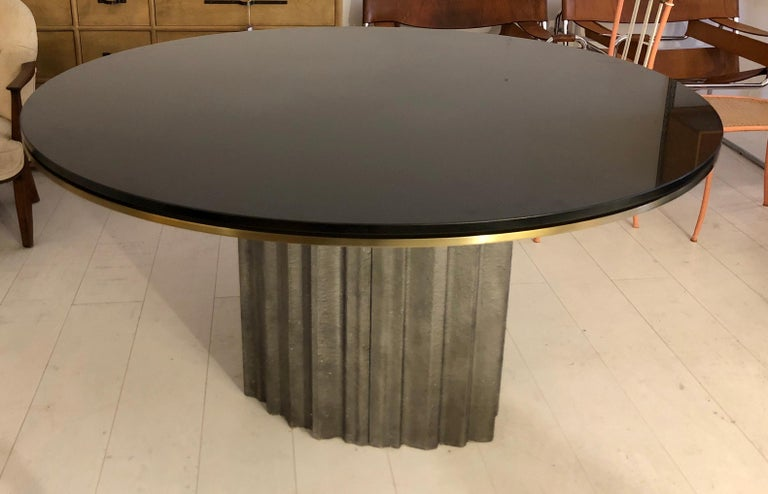 Mid-20th Century Chic Brutalist Dining/Centre Table by Max Papiri For Sale