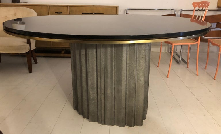 Chic Brutalist Dining/Centre Table by Max Papiri For Sale 3