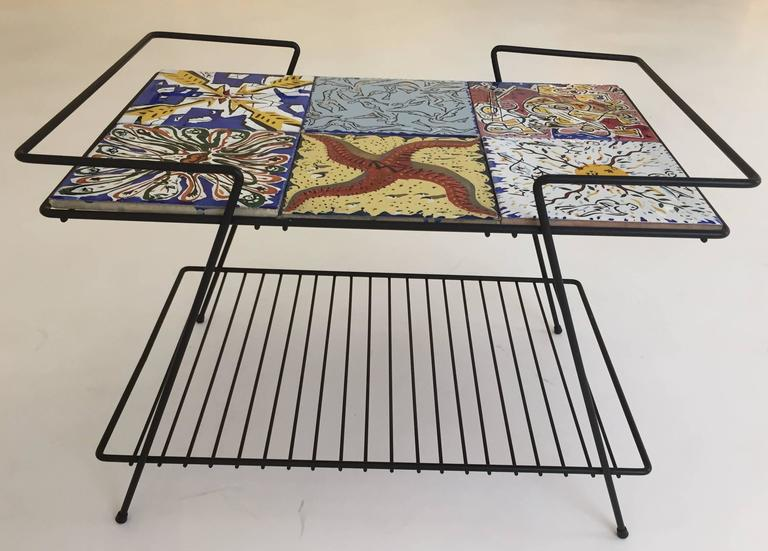 Rare Pair Of Salvador Dali Tile Side Tables 2