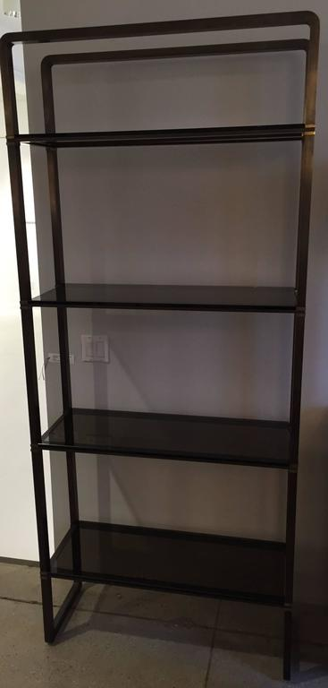 Paul M Jones Bronze and Glass Etagere In Good Condition For Sale In Hudson, NY