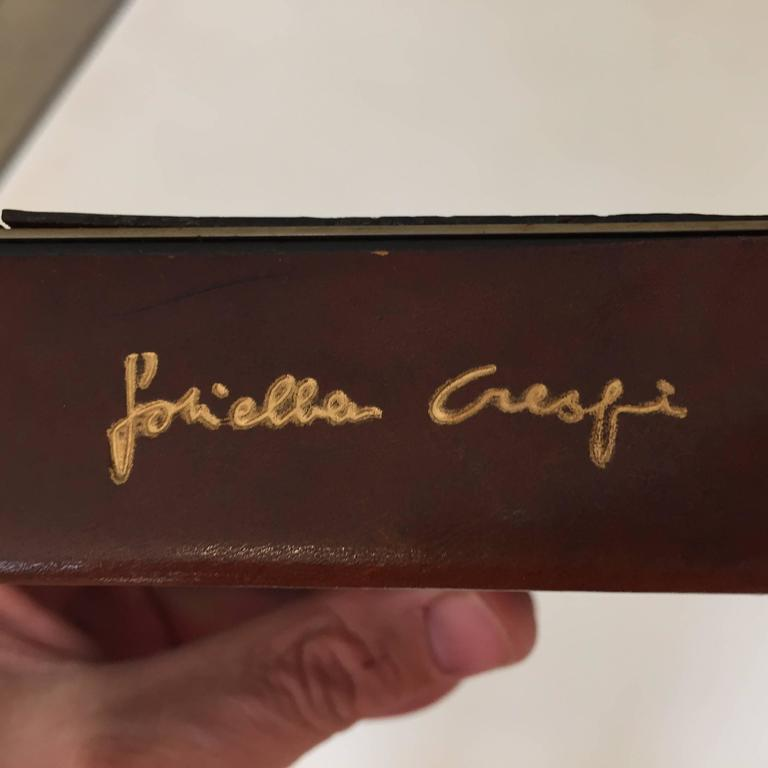 Steel and Leather Box by Gabriella Crespi In Excellent Condition For Sale In Hudson, NY