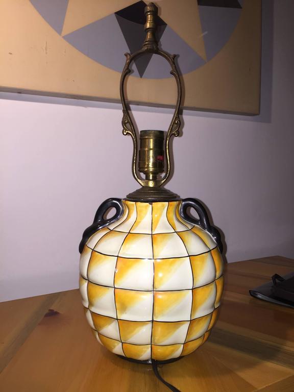 Italian Gio Ponti Lamp for Ginori For Sale