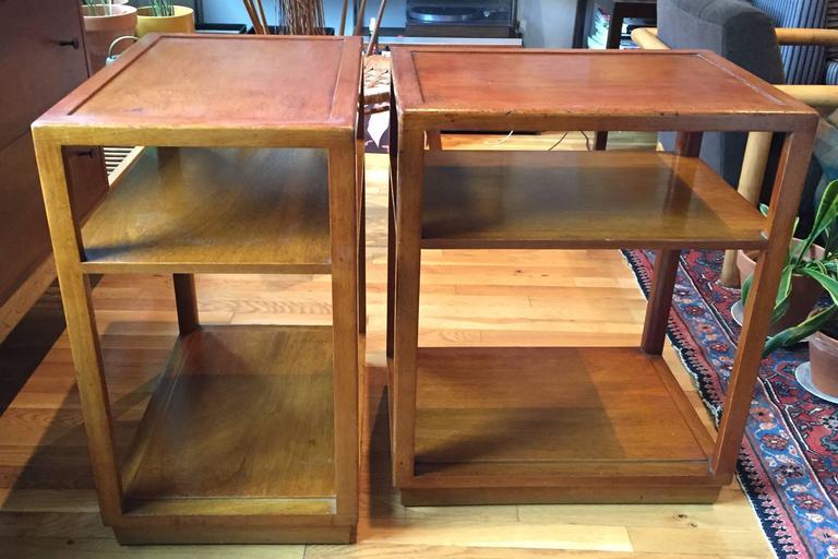 Pair of Custom Order Side Tables by Dunbar 3