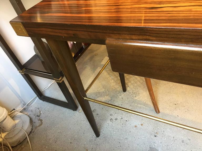 American Tommi Parzinger Macassar Ebony Desk For Sale