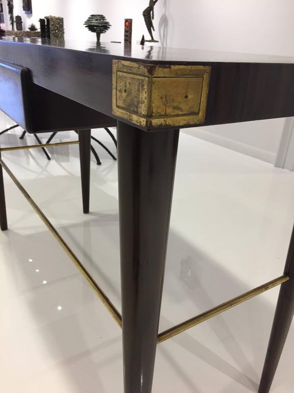 Mid-20th Century Tommi Parzinger Macassar Ebony Desk For Sale