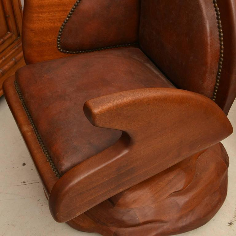 American Studio Craft Executive Chair In Good Condition For Sale In Hudson, NY
