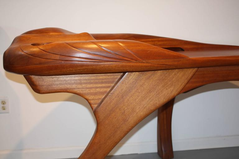 Late 20th Century Amazing American Studio Sculpted Desk For Sale