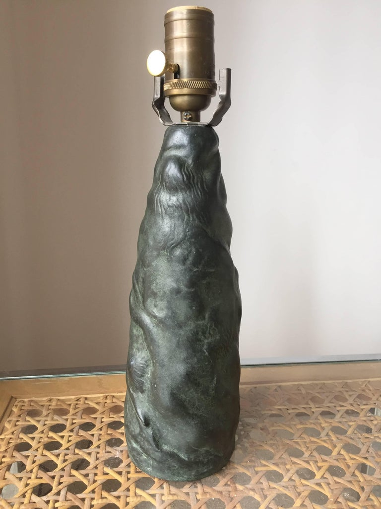 Halvar Frisendahl Bronze Table Lamp In Excellent Condition For Sale In Hudson, NY