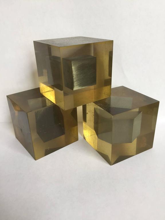 Enzo Mari Lucite Sculptures 3