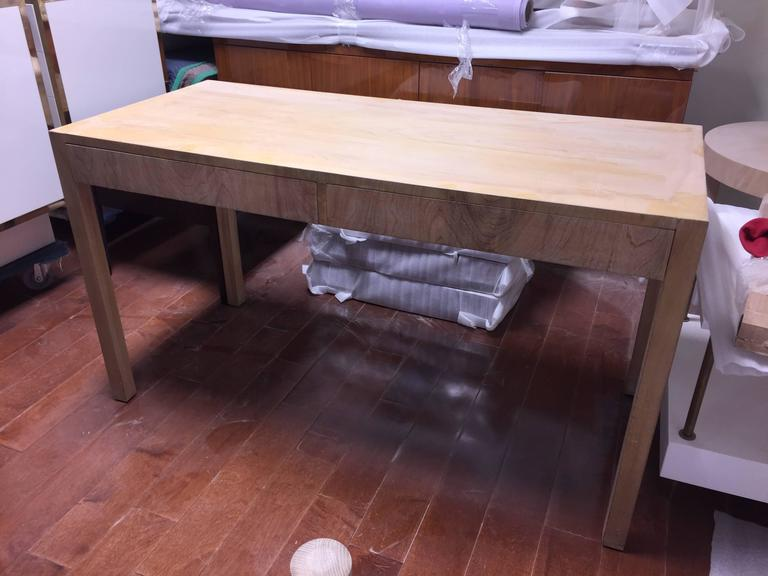 American Custom Robsjohn-Gibbings Walnut Desk For Sale